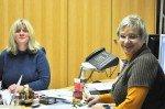 Immer offen für Besucher und ihre Anliegen: Unsere Sekretärinnen Frau Weische und Frau Kampe (v.l.) - Foto: SMMP/Hentrich