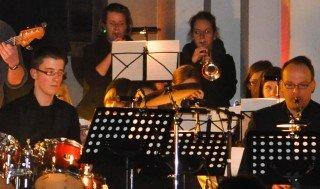 Die Bigband des WBG bei einer Aufführung am 19.12.2011. (Foto: SMMP/Hentrich)