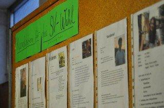 Schüler aller Stufen kandidierten für die SV-Wahlen und stellten ihre Ziele persönlich vor. (Foto: SMMP/Hentrich)