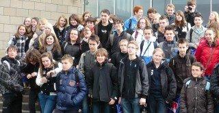 Französische und deutsche Schüler besuchten das Schokoladenmuseum in Köln. (Foto: WBG/Großerhode)