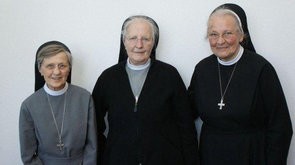 Sr. Lydia M. Radke, Sr. M. Gabrielis Weische und Sr. M. Virgina Schütze feiern am 19. Mai ihr diamentenes Ordensjubiläum am WBG. (Foto: WBG/Schrieck)