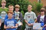 Ein toller Erfolg: Gewinner des Mathe-Kängruru-Wettbewerbs 2012. (Foto: SMMP/Hentrich)
