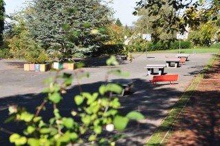 """""""Sommerferien"""" auf dem Pausenhof des WBG (Foto: SMMP/Hentrich)"""