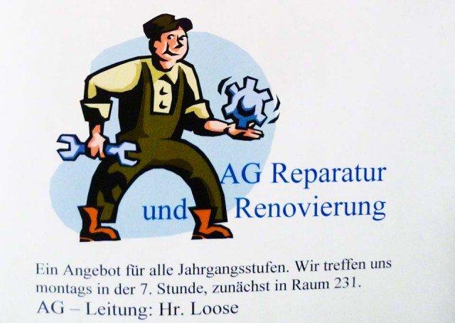 """Neue AG 2012: """"Reparatur und Renovierung"""" (Foto: SMMP/Hentrich)"""