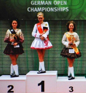 Teresa Spener (Stufe 10) holte am 11.11.2012 in Sindelfingen den Deutschen Meistertitel im Irish Dance. (Foto: P. Stankowski)