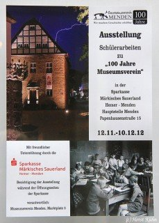"Ausstellungsplakat: Schülerarbeiten zu ""100 Jahre Museumsverin"" (Foto: http://www.myheimat.de)"