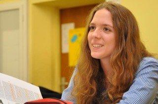 Überzeugte die Juroren mit ihrem philosophischen Essay: Alina Gaisbauer (Stufe 13). Foto: SMMP/Hentrich