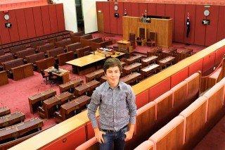 Im Senatssaal des australischen Parlaments in Canberra. (Foto: WBG/Kaluza)