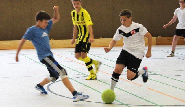 Fußballturnier der SV am 20. Juni 2013 in der Sporthalle des WBG. (Foto: WBG/Schieferdecker)