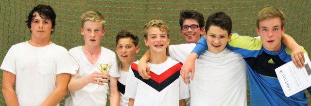 """Platz 3 für die """"Bayern"""", das Team der 8b. (Foto: WBG/Schieferdecker)"""