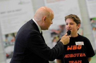 Interview nach dem Wettkampf in der RWE-Sporthalle. (Foto: zdi)