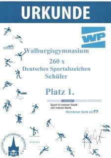 Urkunde Sportabzeichen