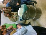 Erste Steinmetzversuche (Alle Fotos: T. Großerhode/ SMMP)