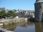 Blick auf Fougères/ Bretagne