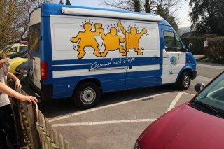 "Das ""Body+Grips-Mobil"" (Foto: Wiemann/SMMP)"