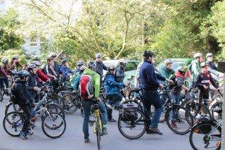 Start der Fahrradgruppe (Foto: C. Scholz/SMMP)