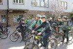 Die Fahrradgruppe kurz vor der Abfahrt (Foto: C. Scholz/SMMP)