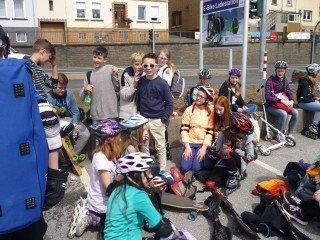 Die Skatergruppe am Ziel (Foto: Lause/SMMP)