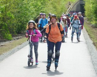 Die Skatergruppe unterwegs (Foto: Lause/SMMP)