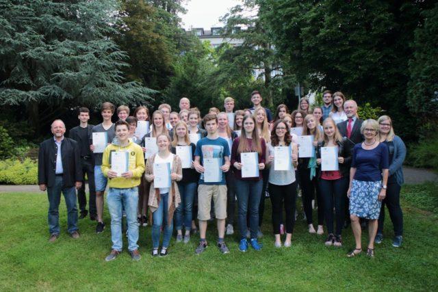 Die erfolgreichen Teilnehmer der diesjährigen Management-AG (Foto: Kuhlmann/SMMP)