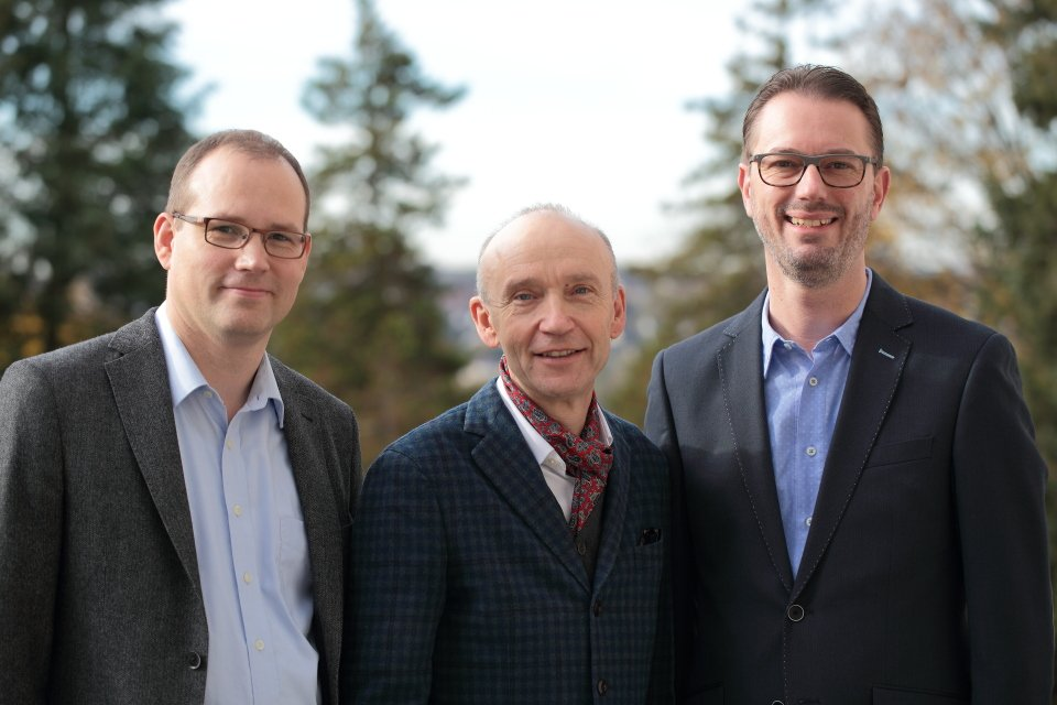 Herr Dr. Bornhoff, Herr Dr. Maler und Herr Köchling (v.l.) (Foto: C. Scholz/SMMP)