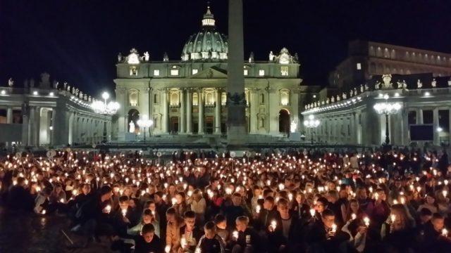 Lichterprozession in Rom (Foto: SMMP/Bock)