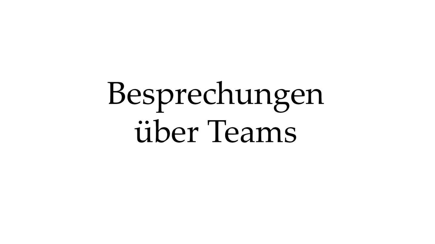 Besprechungen über Teams