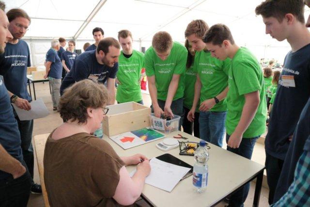 "Teilnahme am Wettbewerb ""Freestyle Physics"". (Foto: C. Scholz/SMMP)"